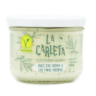 queso vegano crema finas hierbas