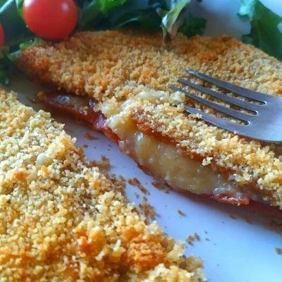 Serranito vegano de jamón y queso
