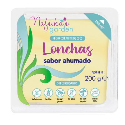 queso nafsika´s garden en lonchas, sabor ahumado