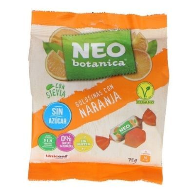 caramelos con stevia sabor naranja Neo Botanica.
