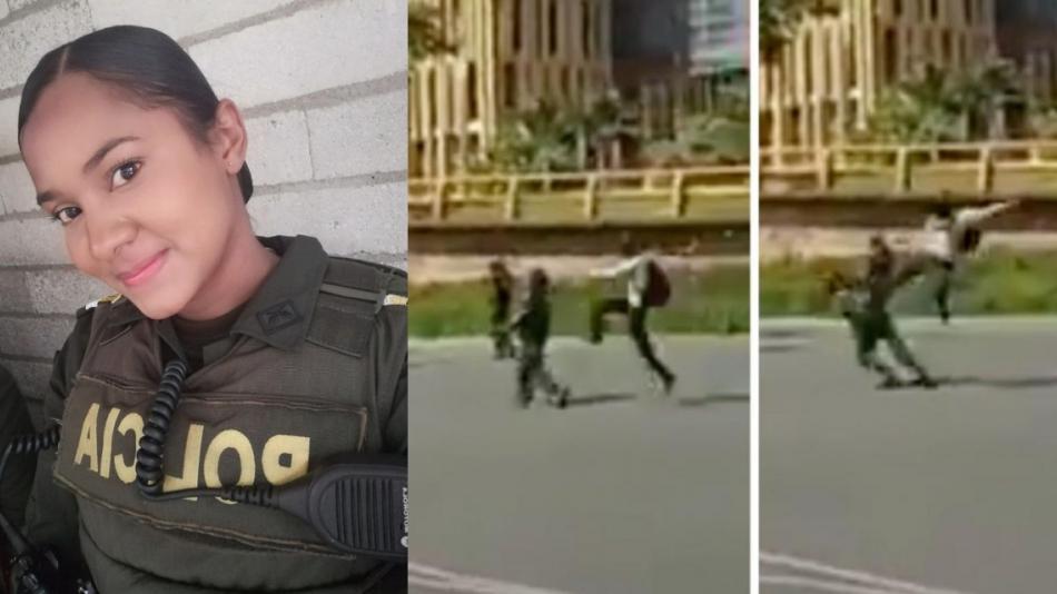 Habla patrullera de la Policía que fue agredida en Medellín