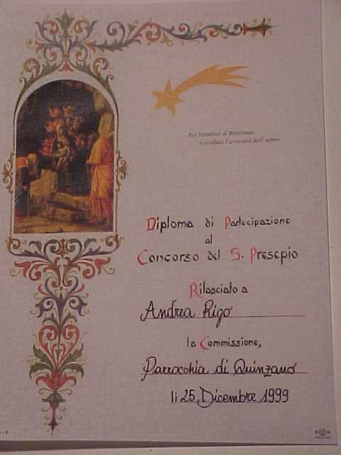 CONCORSO PRESEPI 2000