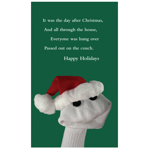 Quiplip Funny Christmas Card Greeting Card From The Sock