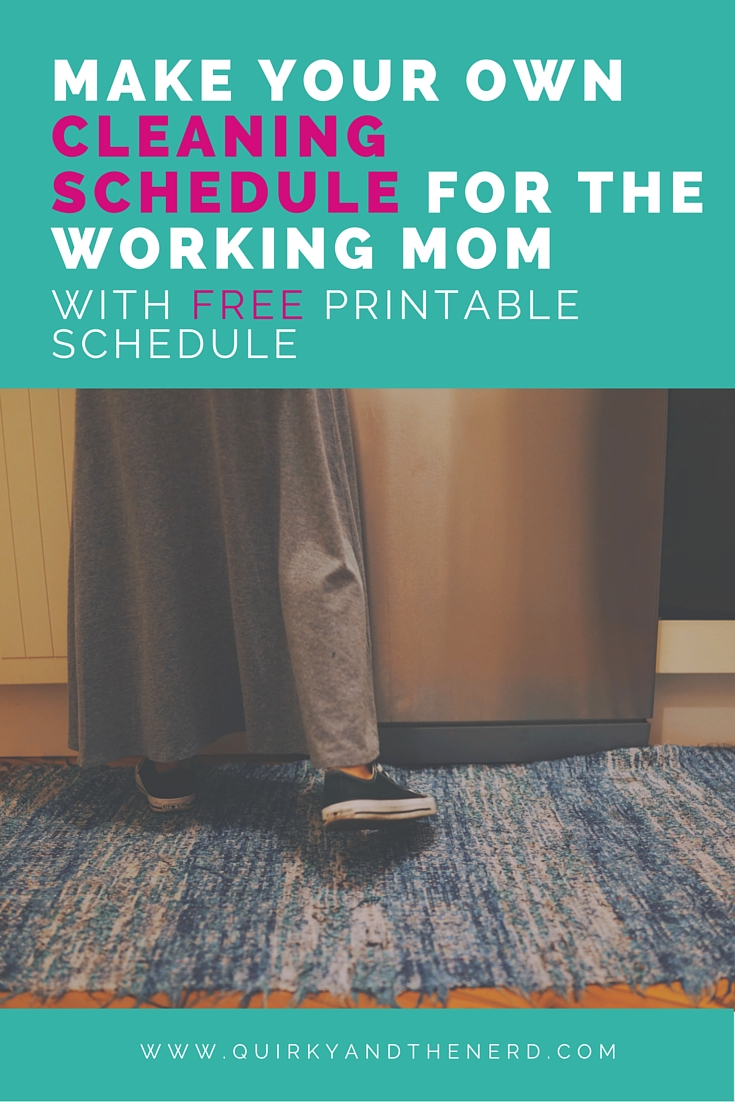 picture regarding Printable Cleaning Schedule for Working Moms identify Generate Your Individual Cleansing Plan for the Doing the job Mother - Quirky