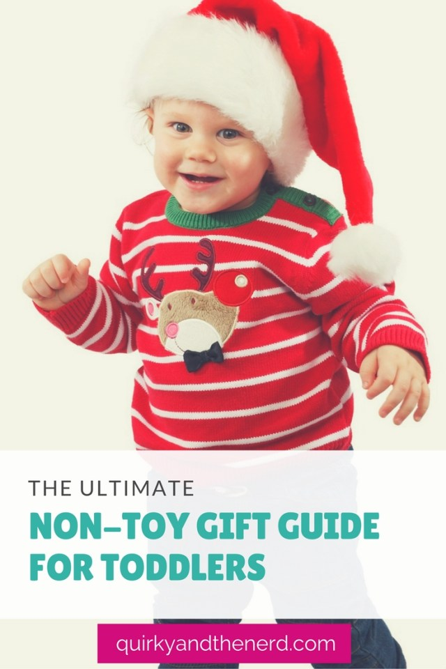 It is so easy to default to buying a kid a toy for the holidays. But what if you don't want to buy a toy? Or what if the parents are strict with their child's toys? Here is the ultimate guide to non-toy gifts for toddlers. quirkyandthenerd.com