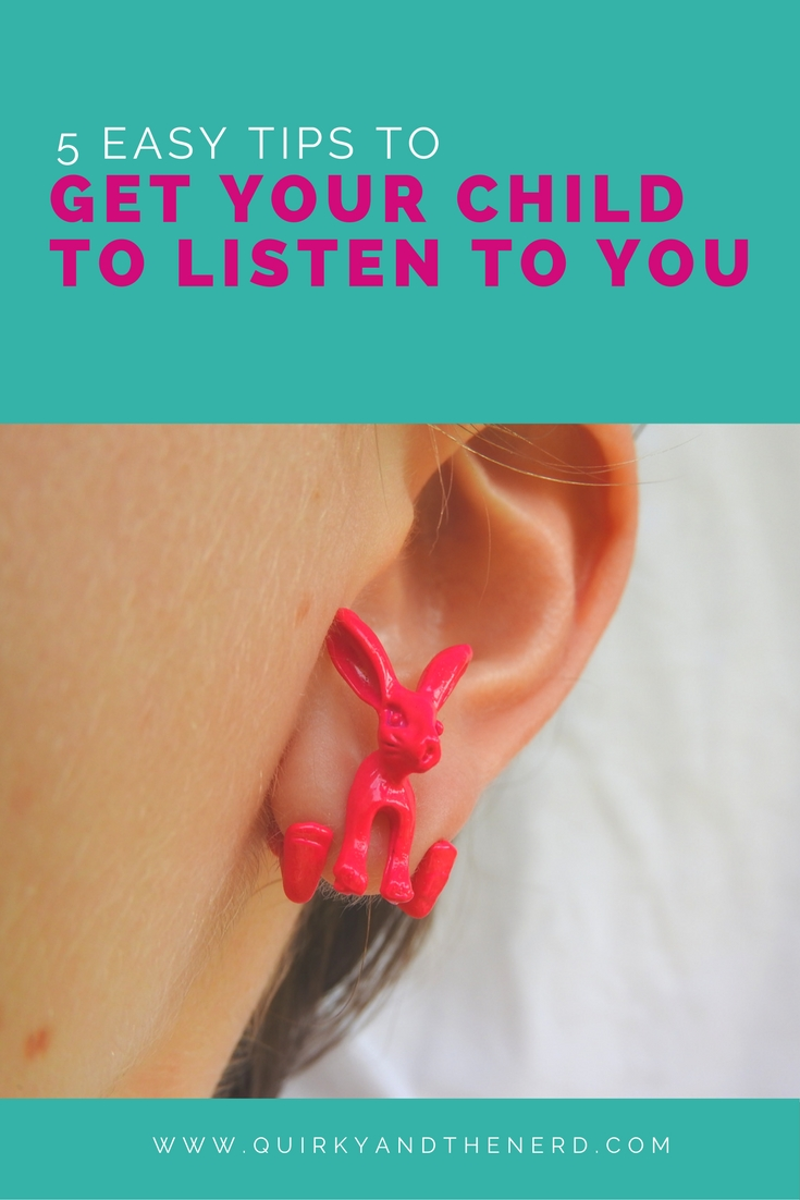 A non-listening child is one of the most frustrating things. But as a parent, there are things you can do to get your child to listen. Here are five tips you can use starting today. quirkyandthenerd.com