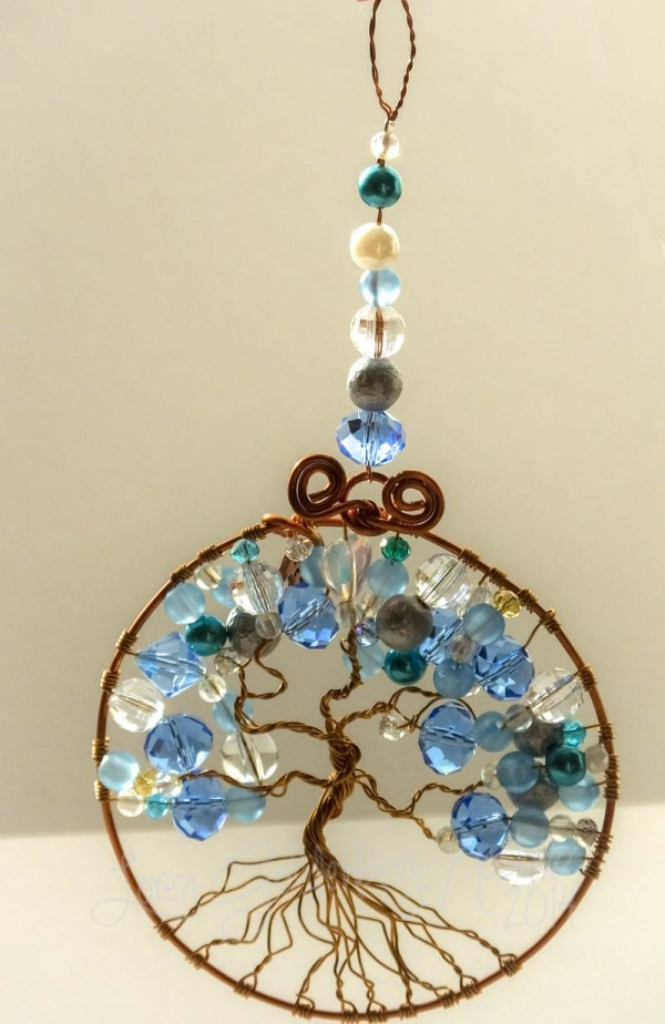 quotReflective Bluequot Tree of Life Suncatcher Quirky By Design