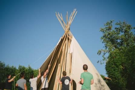 tipi at quirky camping
