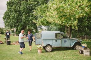 ice cream distribution at quirky camping