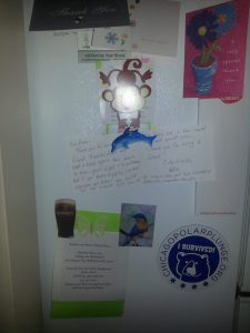 The art of Lillian Connelly on my fridge
