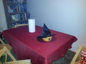 Pumpkin with witch's hat