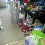 Christmas threw up everwhere.