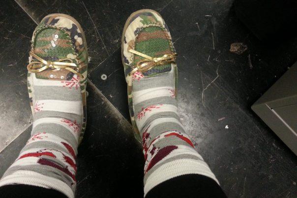 Sequin Camo Slippers