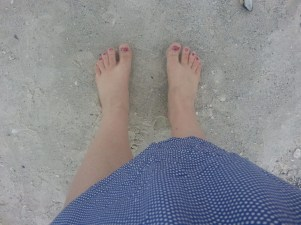feet on the beach