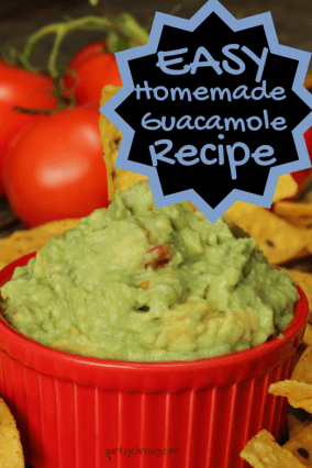 I love guacamole. I love homemade guacamole even more. And when it all comes down to it, this easy recipe is DELICIOUS!