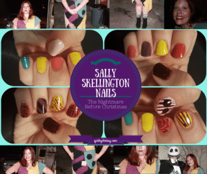 I thought it would be fun to create patchwork nails that matched Sally Skellington's ragdoll dress in The Nightmare Before Christmas
