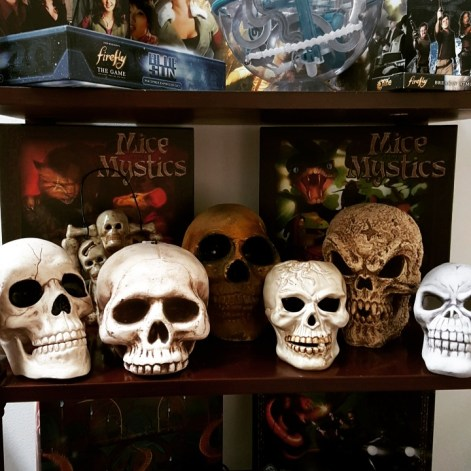 my Halloween skull collection