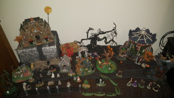 My Halloween village (Lemax Spookytown) is my pride and joy of Halloween. I love it more than my Christmas village
