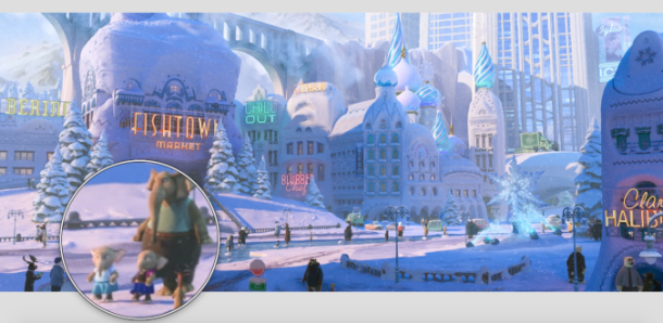 Zootopia Easter Egg Anna and Elsa Frozen