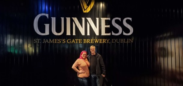 Chrissy and Brian at the Guinness Storehouse