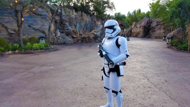 I love sassing stormtroopers in Galaxy's Edge