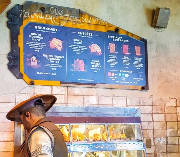 Ronto Roasters Menu at Star Wars Galaxy's Edge