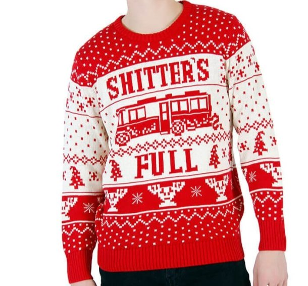Shitter's Full ugly Christmas sweater