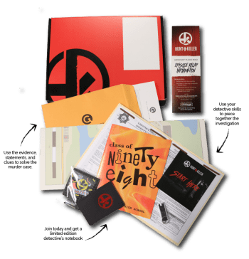 Hunt A Killer mystery subscription box