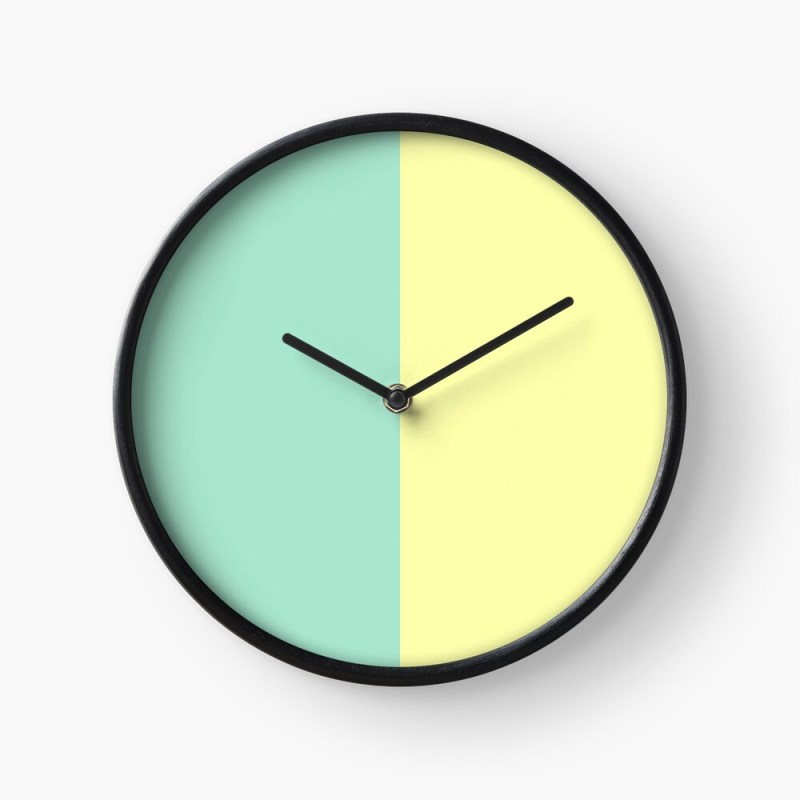green and yellow clock