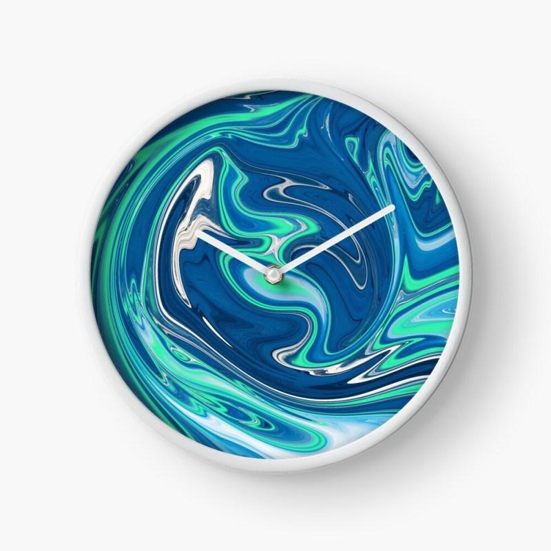 liquid paint clock
