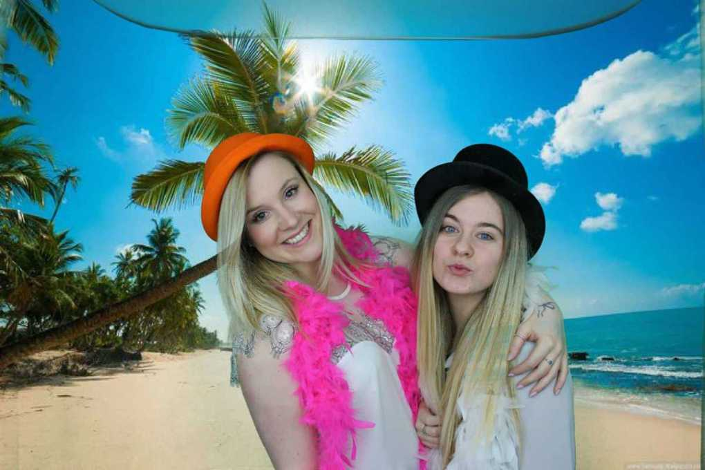 Guests Enjoying quirky photo booth hire