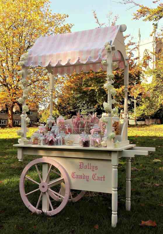 dollys candy cart hire side view