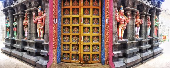 Colourful doors in India