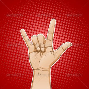 Rock & Roll Hand Sign