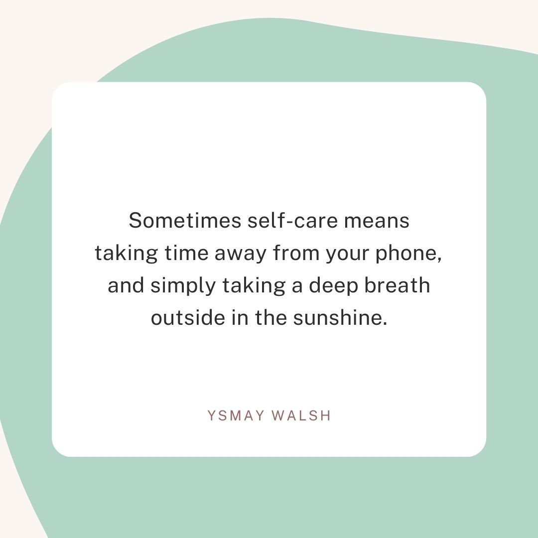 Self Care Isn't Always a Bath
