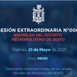 Asamblea de Quito se reúne este 21 de mayo