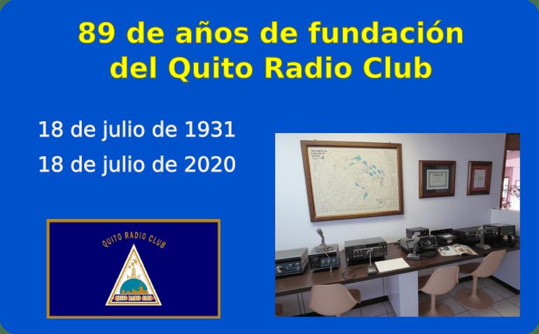 Conmemoramos 89 años del Quito Radio Club