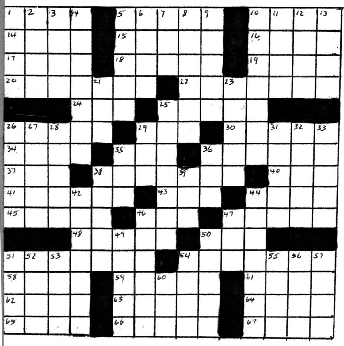 Crossword Puzzle by Bob Lee – January 2012
