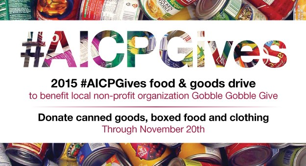 2015 AICP+AICE Gives Food & Goods Drive