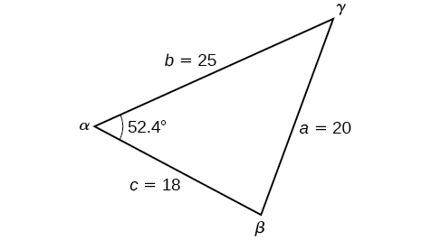 Solving applied problems using the law of cosines By