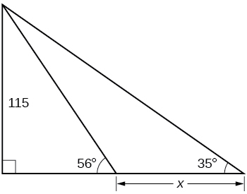 Real-world applications, Right triangle trigonometry, By