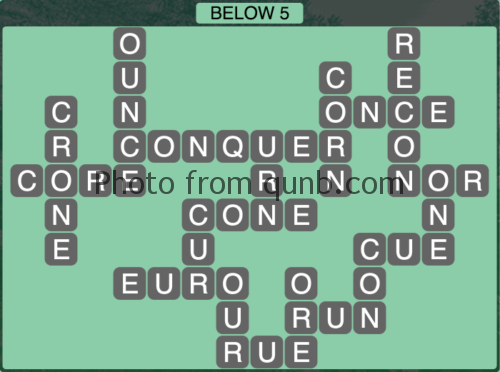 Wordscapes Below Vista Level 10891104 Answers and
