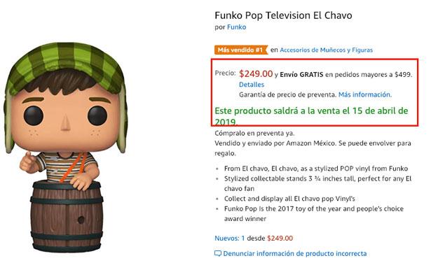 Ya Estan En Preventa Los Munecos Chapulin Y Chavo Del Ocho De Funko Pop