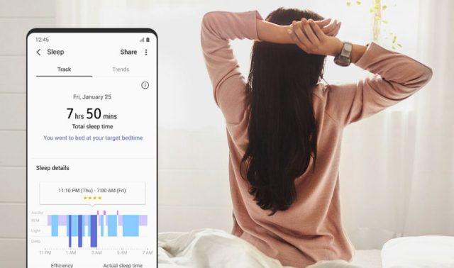 Galaxy Watch Active 2 monitoreo del sueño