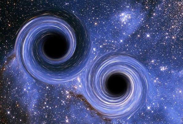 Científicos registran agujeros negros con onda gravitacional inusual