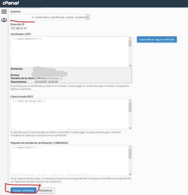 instalar SSL