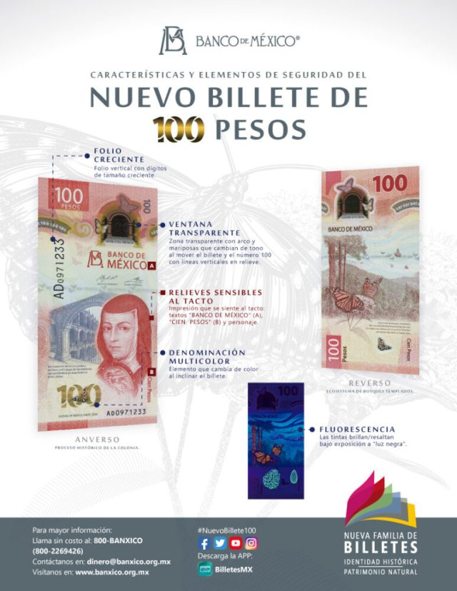 Billete 100 pesos mexico