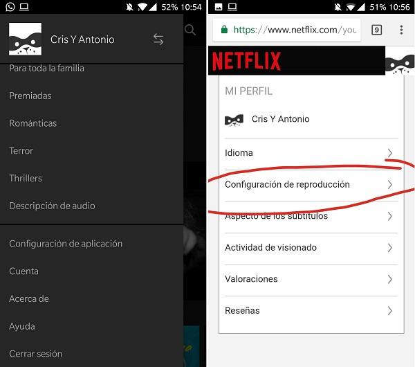 Reproducción Netflix