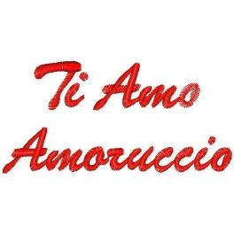 Ricamo con frase Ti amo Amoruccio  Quorino  Vendita online di Gadget Ricamati