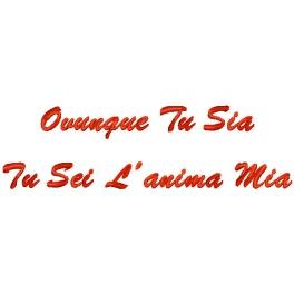 Cuscino con frase Ovunque Tu sia Tu sei lAnima Mia  Quorino  Vendita online di Gadget Ricamati